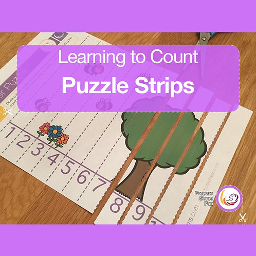 Learning to Count Puzzle Strips
