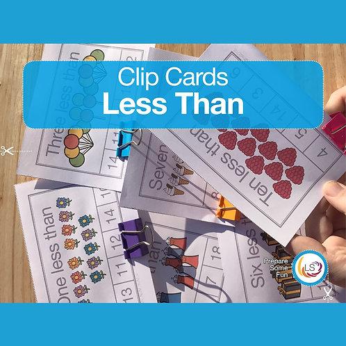 Less Than Clip Cards