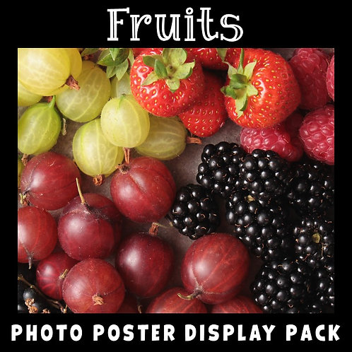 Fruits Photo Posters Display Pack