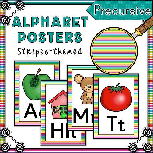 Rainbow 1 Themed Alphabet Posters Frieze