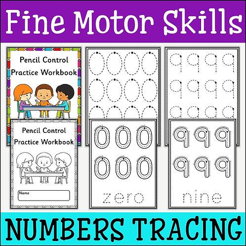 Fine Motor Skills: Numbers 0-9 Tracing