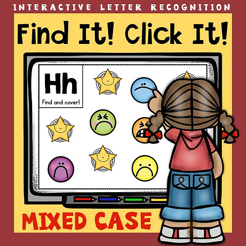 Alphabet: Interactive Letter Mixed Case Recognition PowerPoint Game