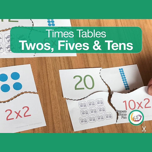 Times Tables_Matching 2s 5s 10s