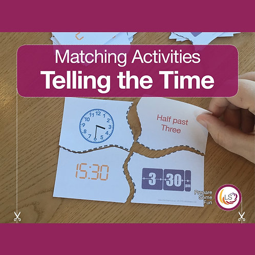 Telling Time Matching Activity