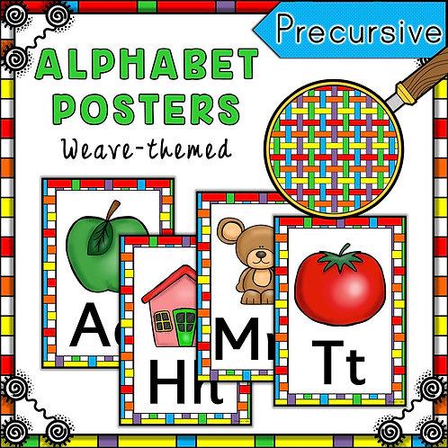 Rainbow Weave Themed Alphabet Posters Frieze