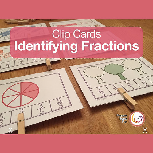 Identifying Fractions Clip Cards