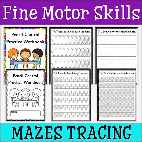 Fine Motor Skills: Tracing Mazes