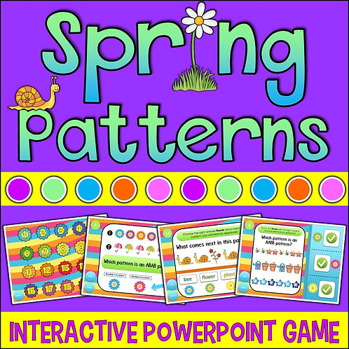 Interactive Spring Patterning PowerPoint Game