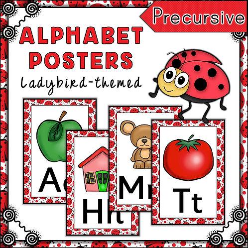 Ladybird Themed Alphabet Posters Frieze