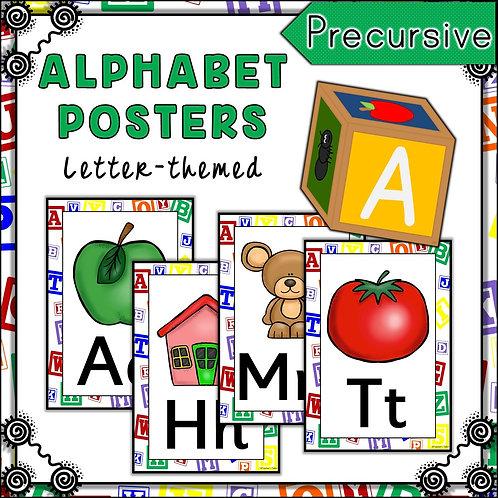 Letter Blocks Themed Alphabet Posters Frieze