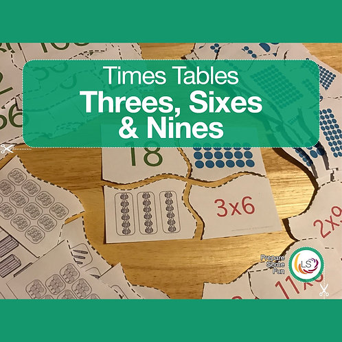 Times Tables_Matching 3s 6s 9s