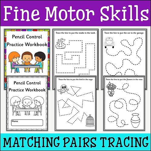 Fine Motor Skills: Matching Pairs Tracing