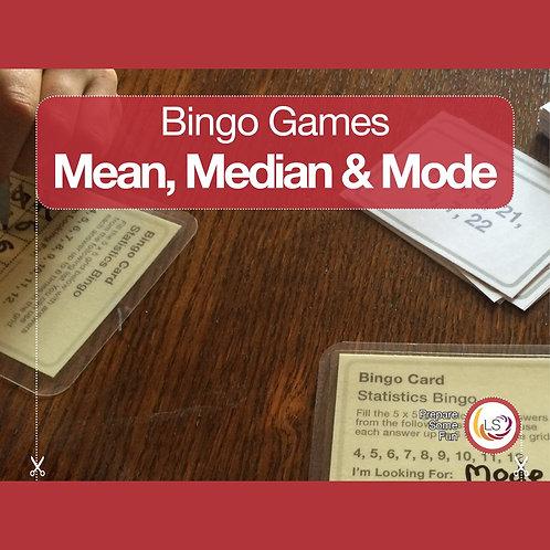Statistics_Averages Bingo