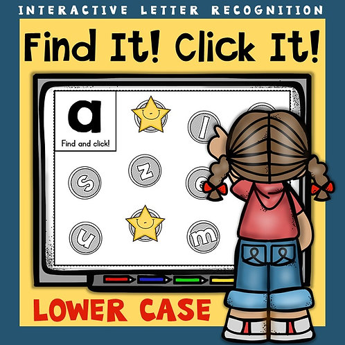 Alphabet: Interactive Letter Lower Case Recognition PowerPoint Game