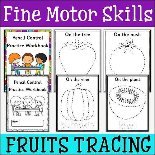 Fine Motor Skills: Fruits Tracing