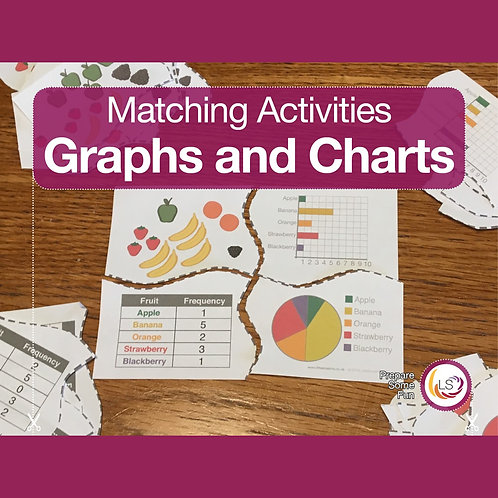 Graphs and Charts Matching Puzzles