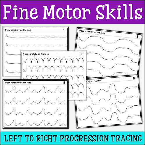 Fine Motor Skills: Left to Right Progression Tracing