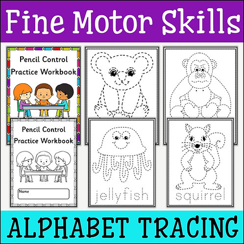 Fine Motor Skills: Alphabet Tracing