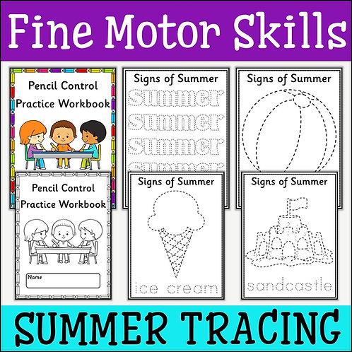 Fine Motor Skills: Signs of Summer Tracing