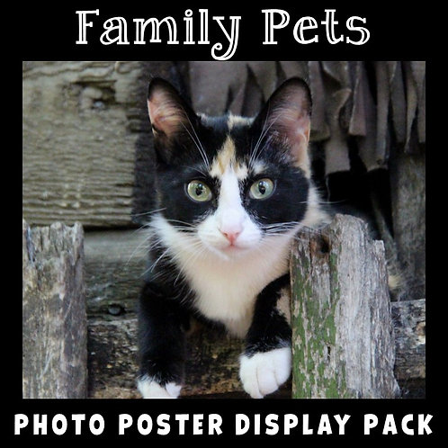 Family Pets Photo Poster Display Pack