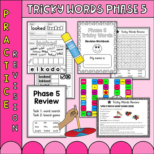 Phonics Phase 5 Tricky word worksheets