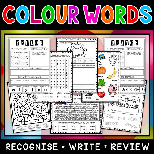 Colour Words Workbook
