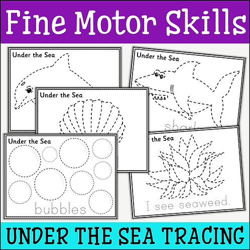 Fine Motor Skills: Under The Sea Tracing