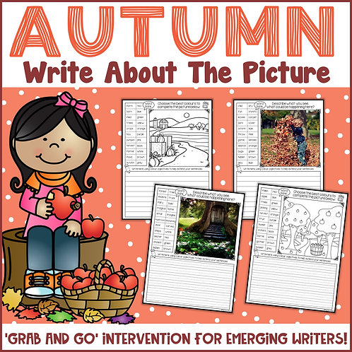 Autumn Write About the Picture {also editable}