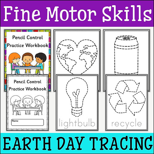 Fine Motor Skills: Earth Day Tracing