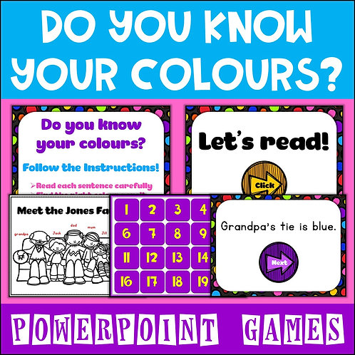Colours Powerpoint Games