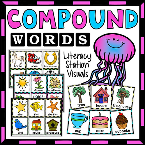 SPAG: Compound Words Visual Cards