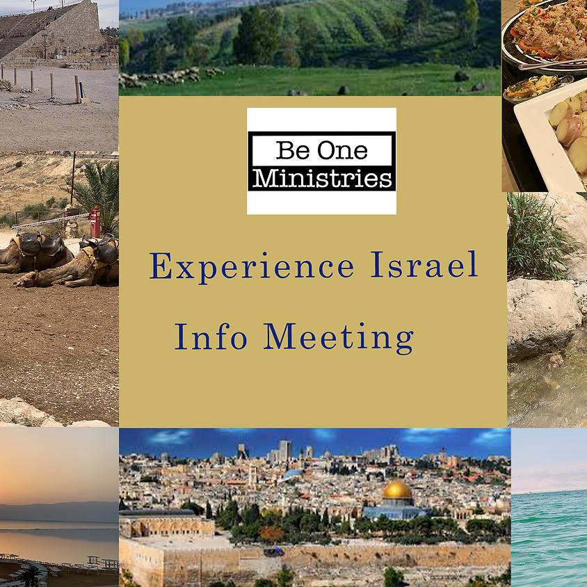Experience Israel Information Meeting