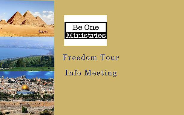 Freedom Tour Info Meeting