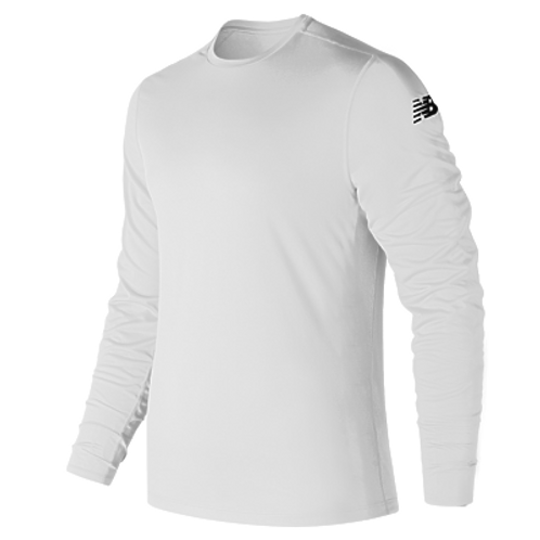 MT81037P - MEN'S NEW BALANCE LONG SLEEVE SHIRT w/ LF LOGO IN SILVER