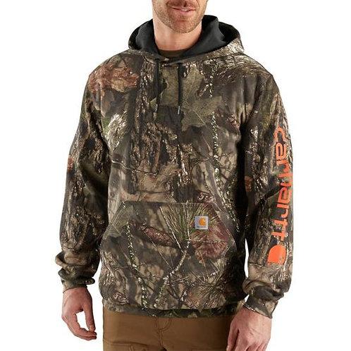 101763 - Midweight Camo Sleeve Logo Hooded Sweatshirt w/ LF Logo