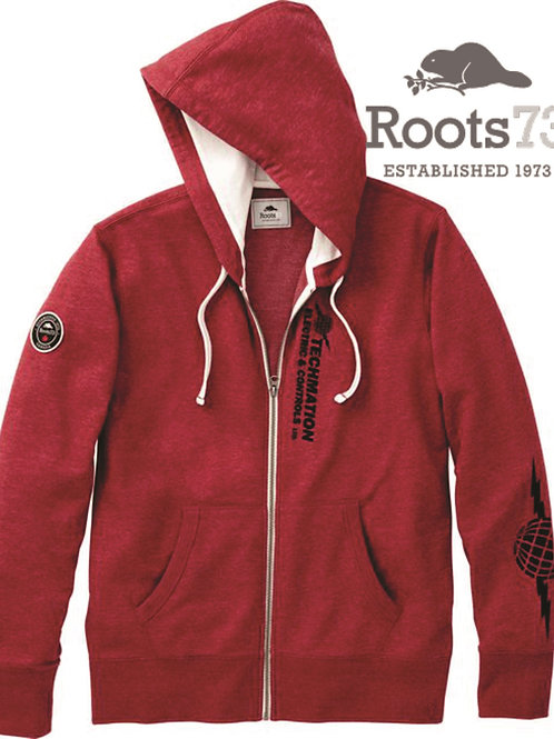 18702 - Mens ROOTS Sandy Lake Hoodie w/ LF Logo & R Sleeve Globe