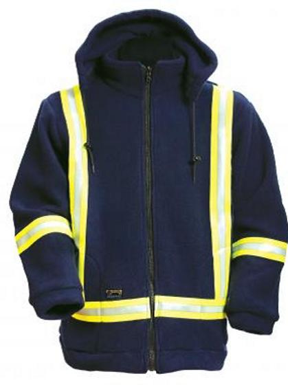 BK460PTF - Polartec FR Fleece Hooded Jacket w/ L Sleeve Logo