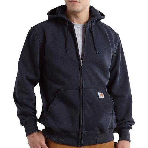 100614 - Rain Defender Heavyweight Full Zip Hoodie w/ LF Logo & L Sleeve Globe