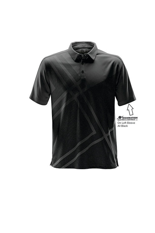 DXP-1 - MEN'S REFLEX POLO w/ L Sleeve Logo