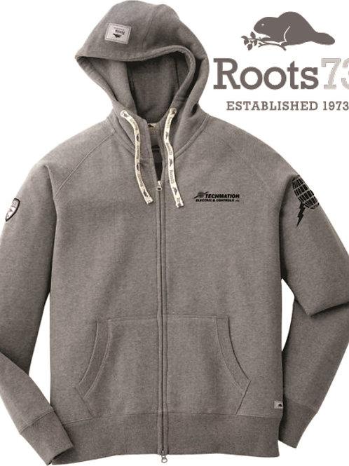 18203 - Mens ROOTS Riverside Hoodie w/ LF Logo & L Sleeve Globe