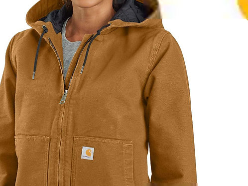 104053 - Washed Duck Insulated Active Jacket INCL LF CREST