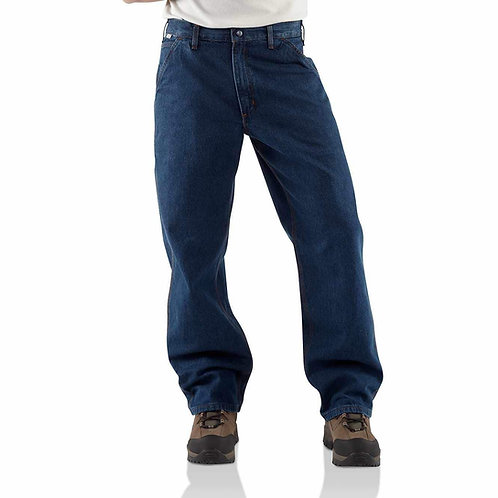 FRB13 - Denim Flame-Resistant Washed Duck Work Dungaree INCL STRIPING