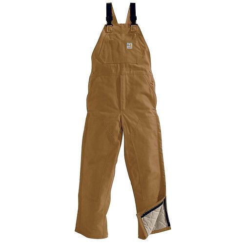 101626 - Carhartt FR Lined Bib Pant w/ Striping & Back Logo