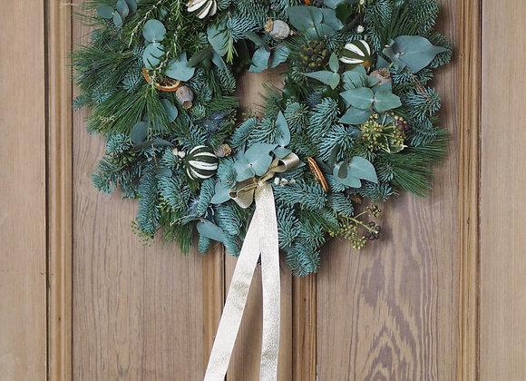 ORANGE DIY CHRISTMAS WREATH BOX
