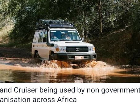 Toyota land cruiser, the undisputed king of Africa