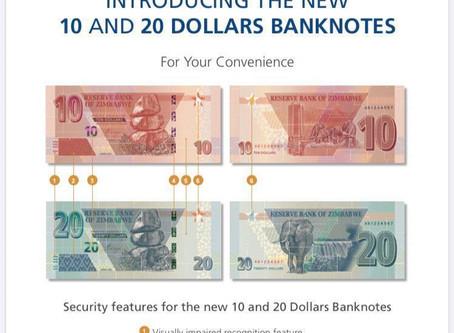 Zim dollar falls after printing new notes
