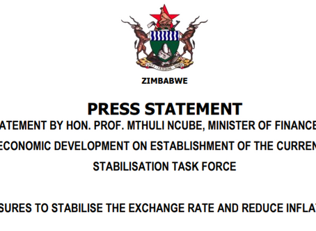 Minister of Finance to create currency task force