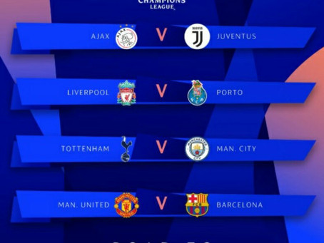 The Champions league Quarter finals are near