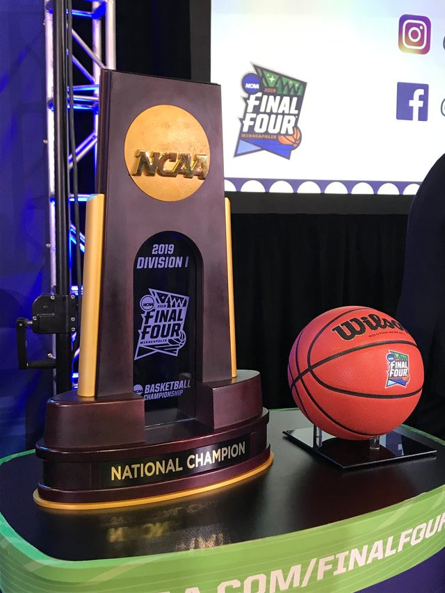 Final Four trophy and Ball