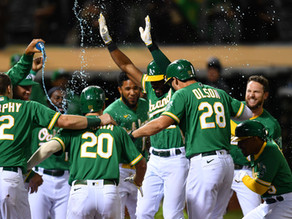 A's Starling Marte Hits Towering Walk-Off to pull within 3 of the Astros